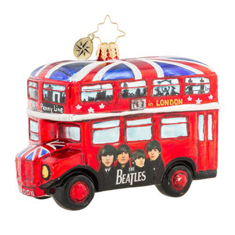 Christopher Radko  the Beatles The British Invasion Bus (PRE-ORDER)