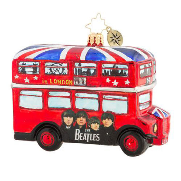 Christopher Radko the Beatles The British Invasion Bus Ornament