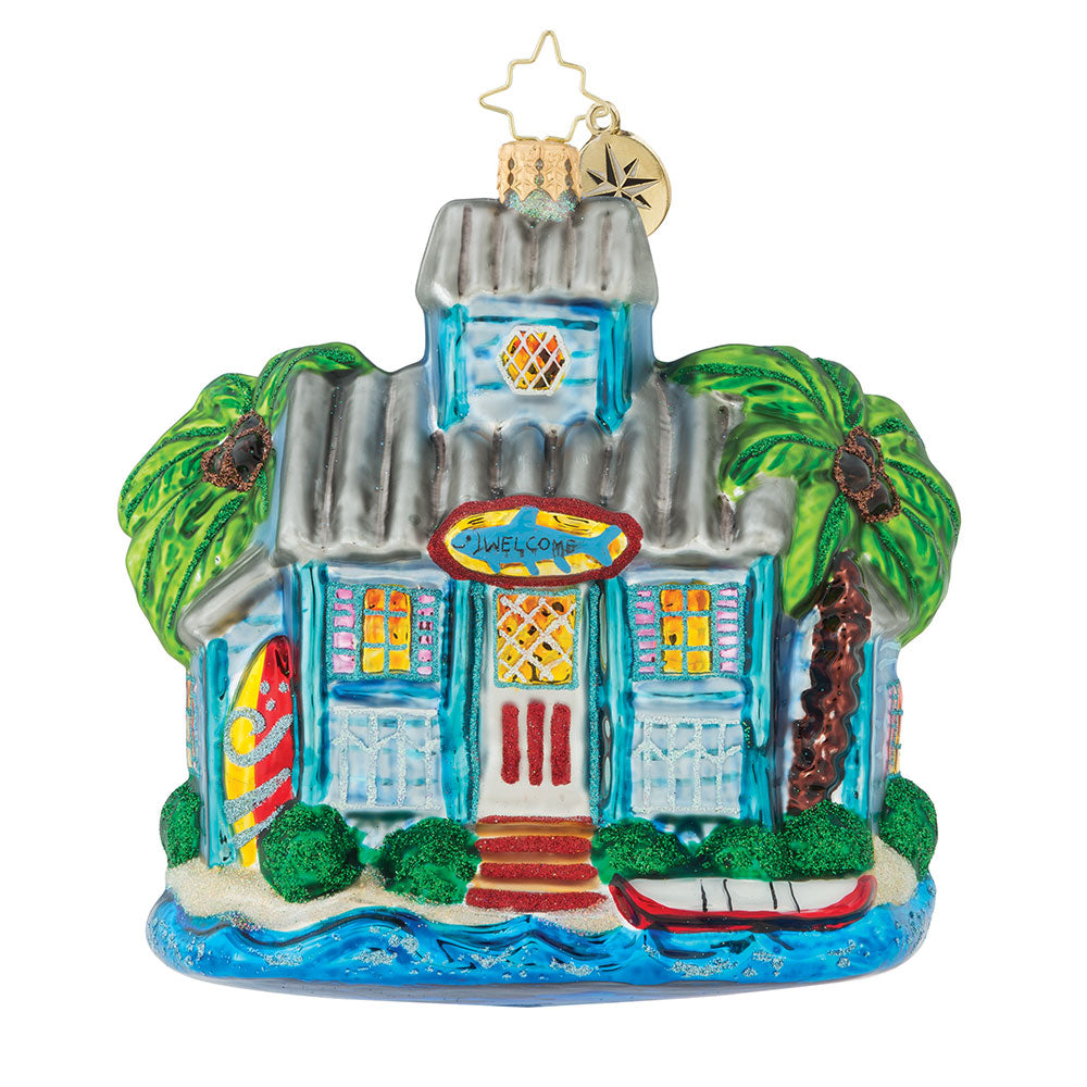 Christopher Radko The Keys To Christmas Florida Ornament