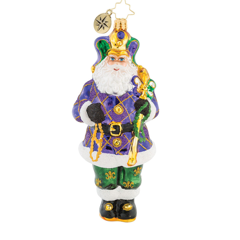 Christopher Radko The King Of New Orleans Mardi Gras Ornament