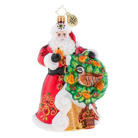 Christopher Radko The Perfect Pear Santa Ornament New 2018