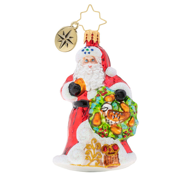 "Christopher Radko The Perfect Pear Gem 12 days Santa 3"" Ornament"