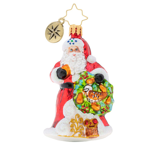 Christopher Radko The Perfect Pear Gem 12 days Santa Ornament