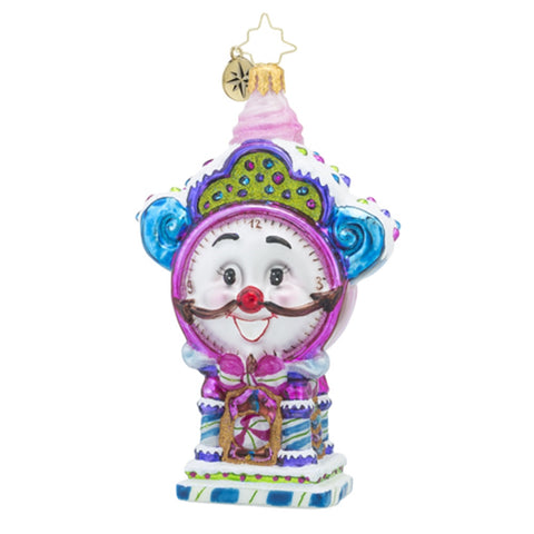 Christopher Radko Time for Sweets Pink Clock Ornament
