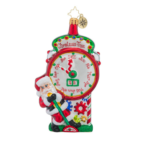 Christopher Radko TIME STOPPING SURPRISE Clock Santa Orrnament