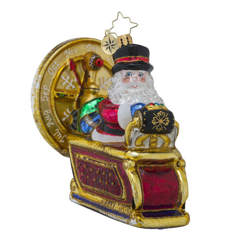 Radko To the Future Nick Time Machine Santa Ornament New