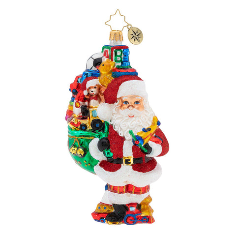 Christopher Radko Toys Galore Santa Ornament
