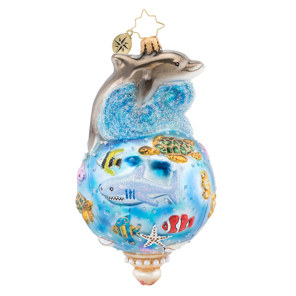 Christopher Radko Under the Sea Dolphin Ornament