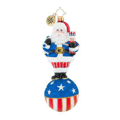 Christopher Radko PATRIOTIC United We Stand Santa Ornament