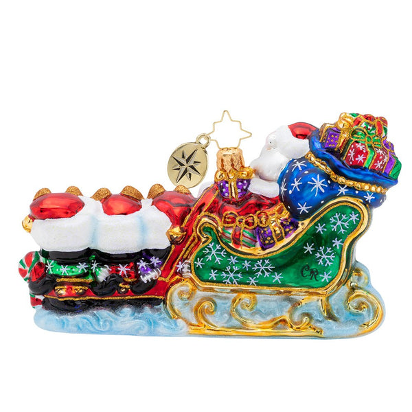 Christopher Radko Waddling Through The Snow Family Ornament