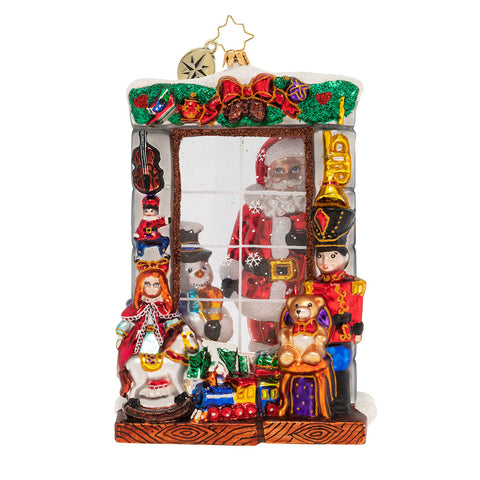 Christopher Radko Window Full of Magic Santa Ornament