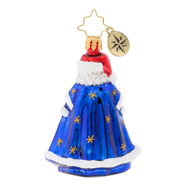 Christopher Radko With Night Clothing In Gem Santa Ornament