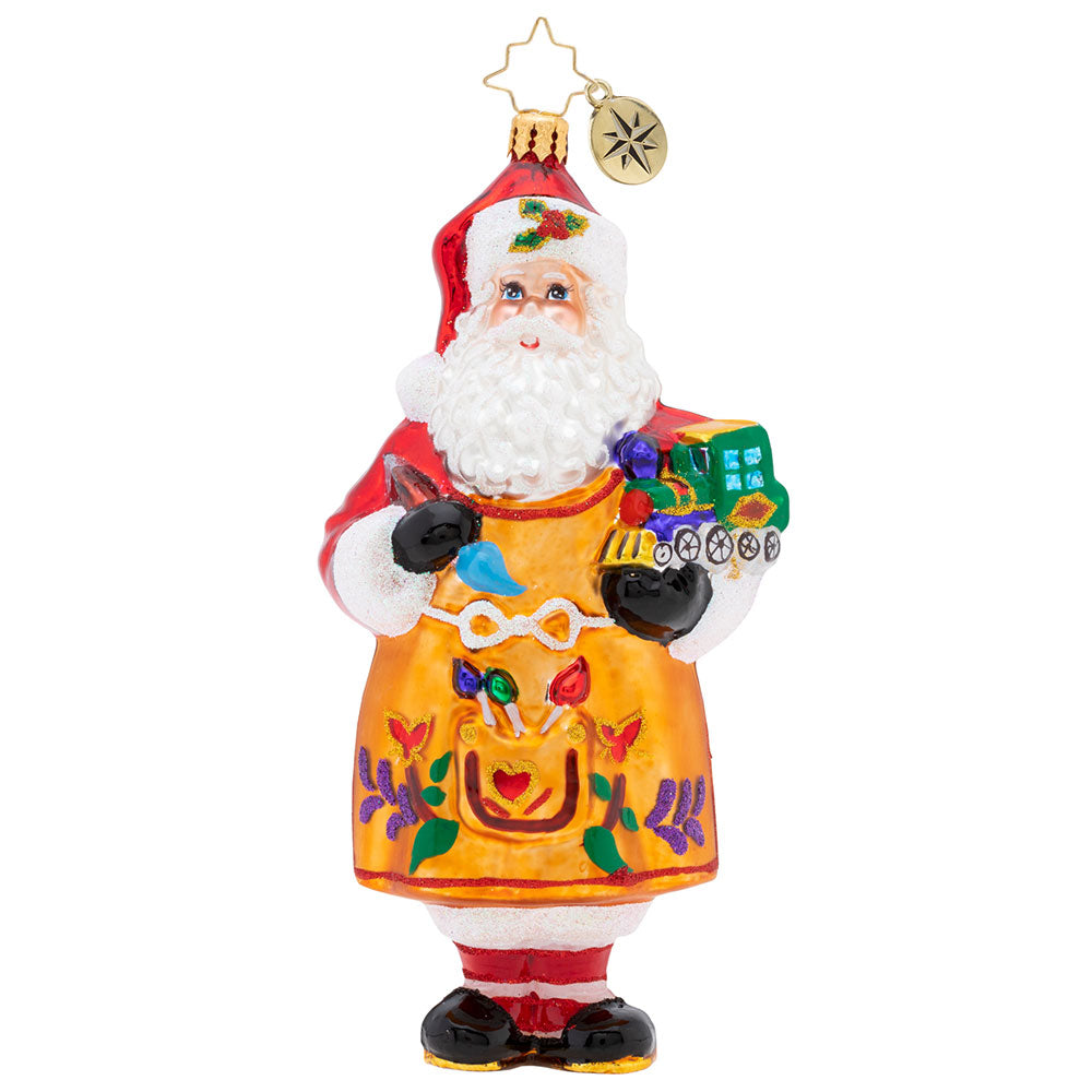 Christopher Radko Workshop Fun Santa Artist Ornament