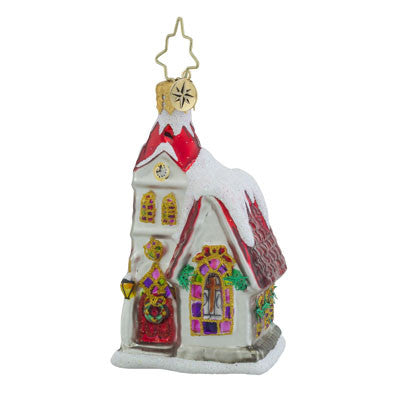 Radko Little Gem Ruby Chapel Church Ornament New