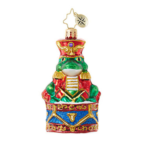 Radko Little Gem RIBBIT RHYTHM Frog Prince ornament New