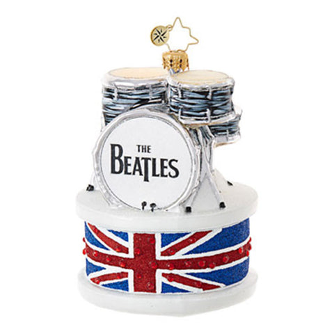 Radko  The Beatles Drum Set Christmas Ornament  New 2017