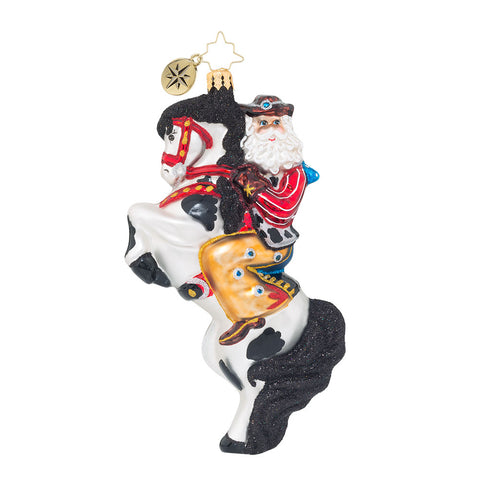 Christopher Radko RODEO SHOWMAN Santa Cowboy ornament New