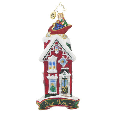Radko ROOFTOP VISITOR Our Home House Ornament New