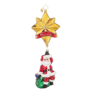 Radko 30TH Anniversary ROYAL STAR SANTA  ornament NEW 2015