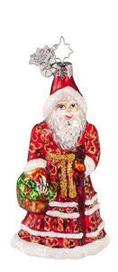 Christopher Radko Ruby Robes Gem Santa ornament