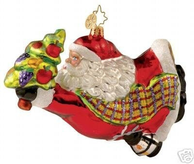 Radko RUSH DELIVERY Santa ornament NEW