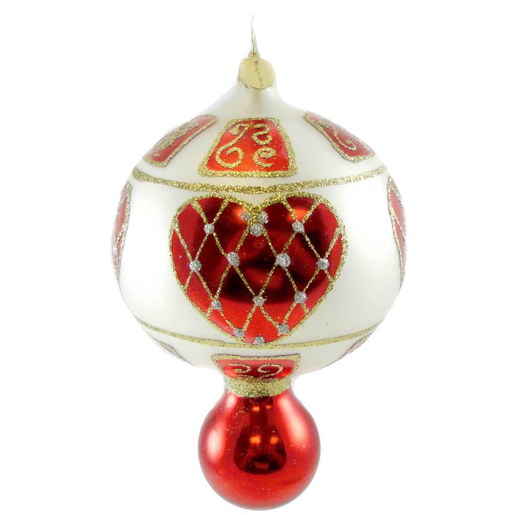 Radko RUSSIAN HEARTS Drop ornament NEW
