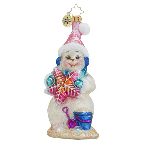 Radko SEA SHORE SANDY Beach Christmas ornament New