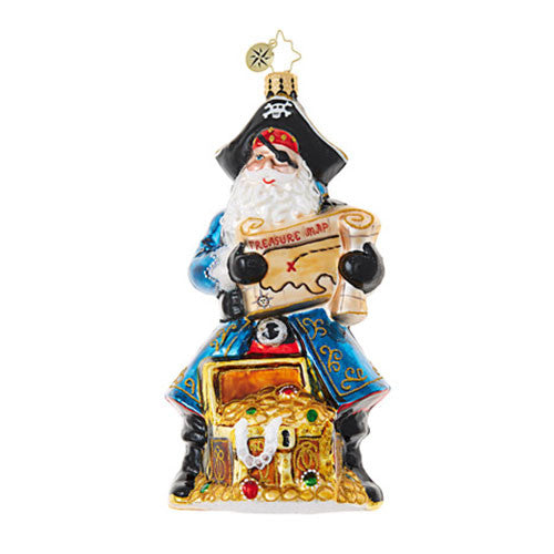 Christopher Radko Santa's Got Booty Pirate ornament NEW