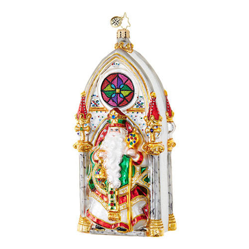 Christopher Radko SANTA'S SPLENDOR Priest Cathedral ornament NEW