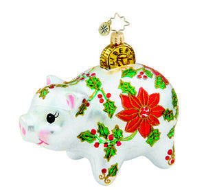 Radko Savin for the Holiday PIG Chirstmas Ornament ornament NEW