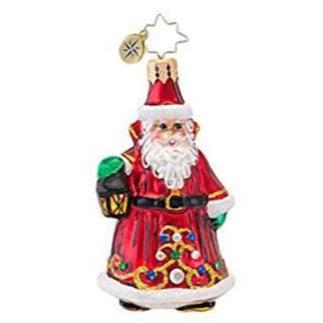 Christopher Radko Little Gems Scarlet Enchantment Santa Gem ornament