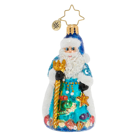 Christopher Radko Seas The Day Santa Beach Gem Ornament