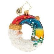 "Christopher Radko Santa's Silent Night Wreath Gem 3"" Ornament"
