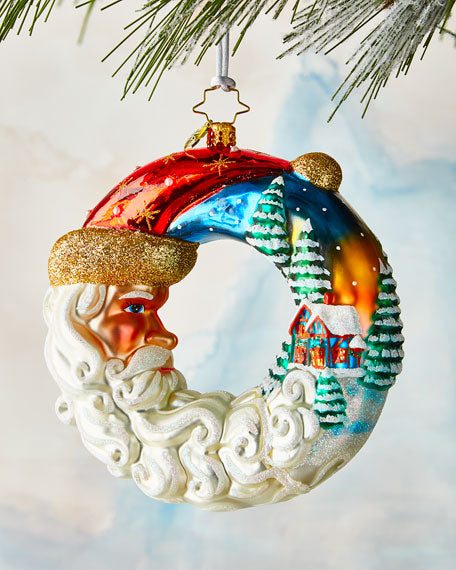 Christopher Radko Santa's Silent Night Wreath Ornament