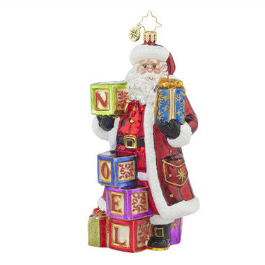 Radko SIMPLY NOEL Santa Ornament New