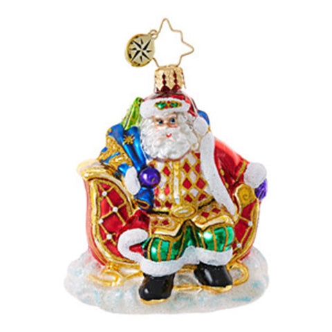 Radko Little Gems SLEIGH VALET SANTA Gem Ornament NEW 2017