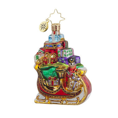 Radko Little Gems SLEIGH PILE UP Santa Gift gem ornament NEW