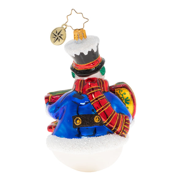 Christopher Radko 2020 Dated Sleigh The Day Away Snowman Ornament