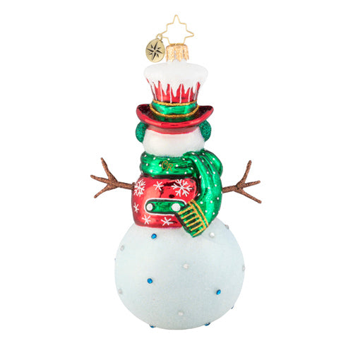 Christopher Radko Snow Day Snowman with Stick Arms Ornament