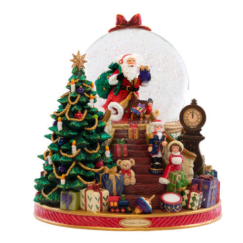 Christopher Radko Splendent Santa Snow Globe