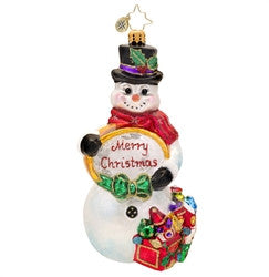 Radko SNOWTIME LIKE CHRISTMAS Snowman ornament Retired Sale