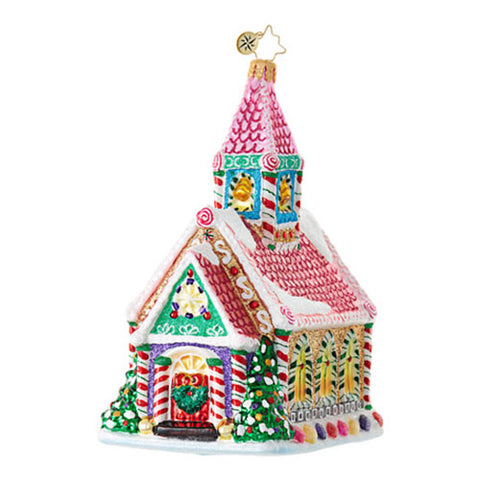 Radko SO SWEET Gingerbread Chapel House Ornament New 2017