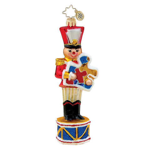 Radko Toy SOLDIER FOR A CAUSE Autism ornament NEW