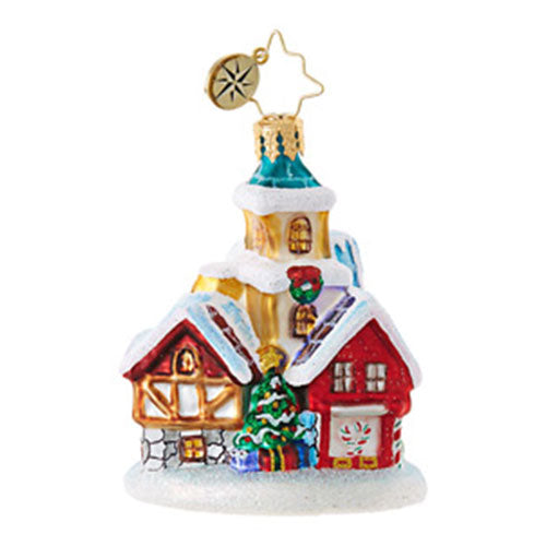 Christopher Radko ST NICHOLAS LANE Gem House ornament