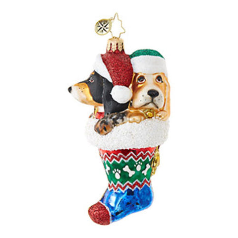 Radko STOP HOUNDING ME Dog Stocking Ornament New 2017