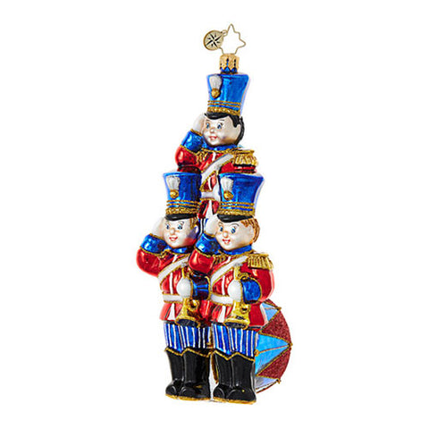 Christopher Radko STRIKE UP THE BAND Toy Soldier ornament NEW