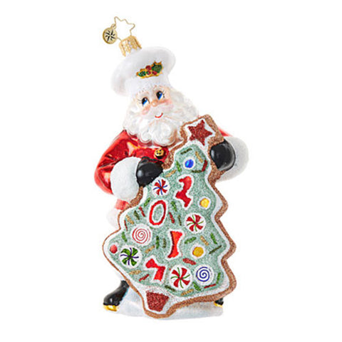 Christopher Radko Dated 2017 SUGAR COOKIE KRIS Santa Ornament