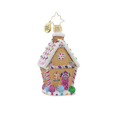 Radko Little Gems SUGAR SHACK GEM Candy House ornament NEW