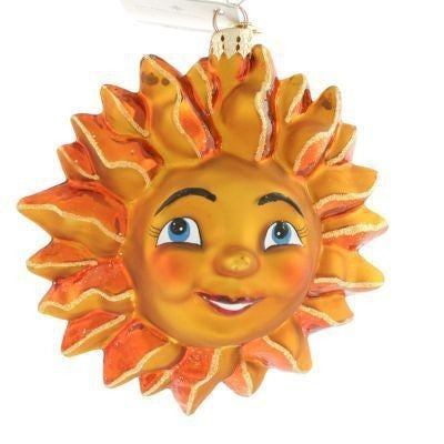 Radko SUNNY DISPOSITION SUN Smiley Face ornament New