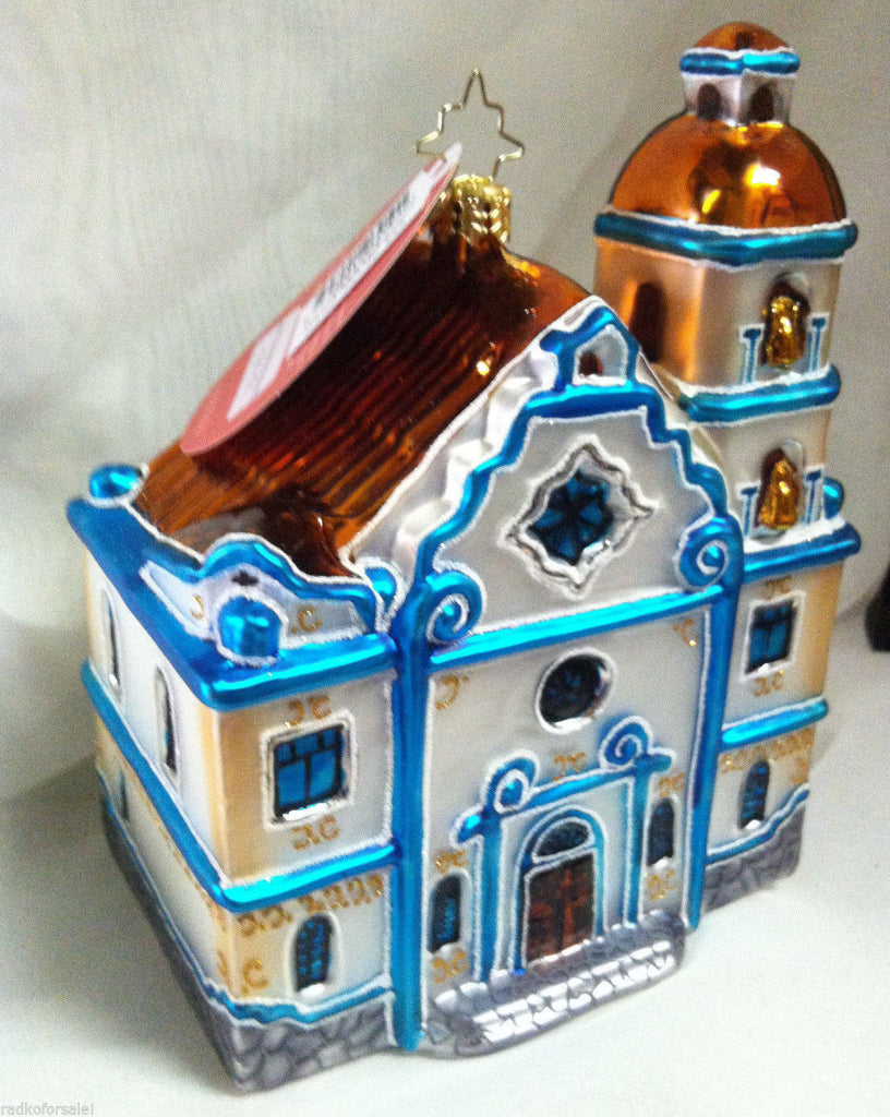Radko SOUTH WESTERN BLESSING Mission Village ornament NEW Blue
